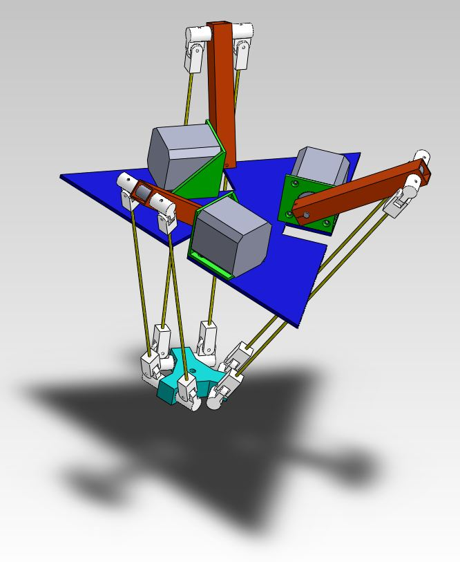 Delta Robot With Updated Dimensions Marginally Clever Robots