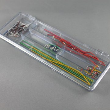 Pack of wires, precut, stripped, and folded