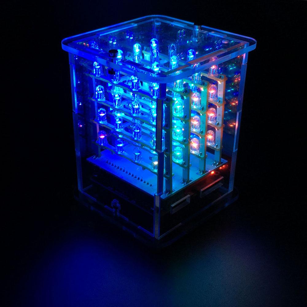 4x4x4 rgb led cube marginally clever robots. Black Bedroom Furniture Sets. Home Design Ideas