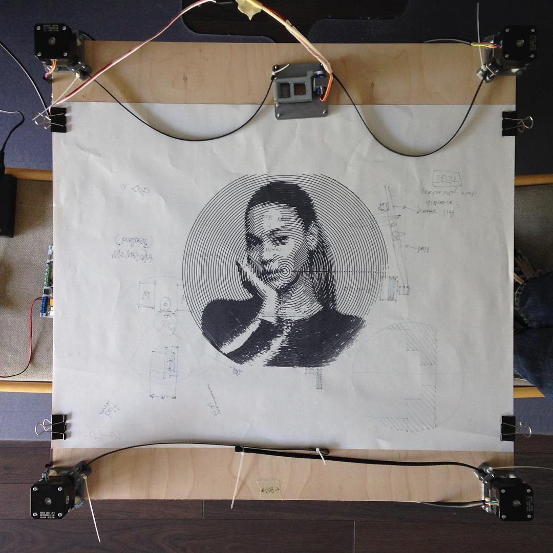 Zarplotter drawing Beyonce