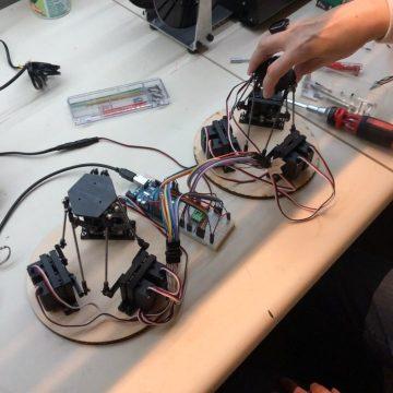 animatronic stewart platform